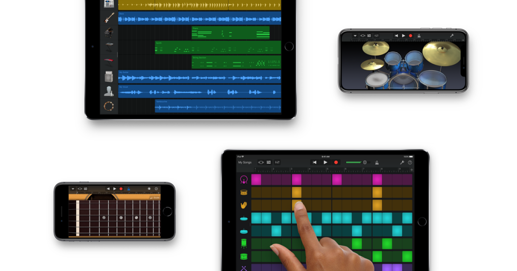 Garageband for making beats on your iDevice